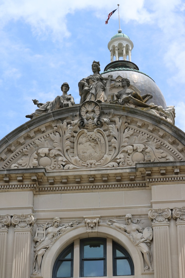 dome and statues